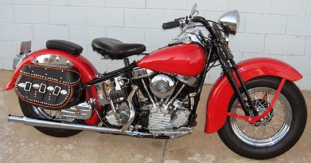 1948 Harley-Davidson FL Panhead Motorcycle With Springer Front End